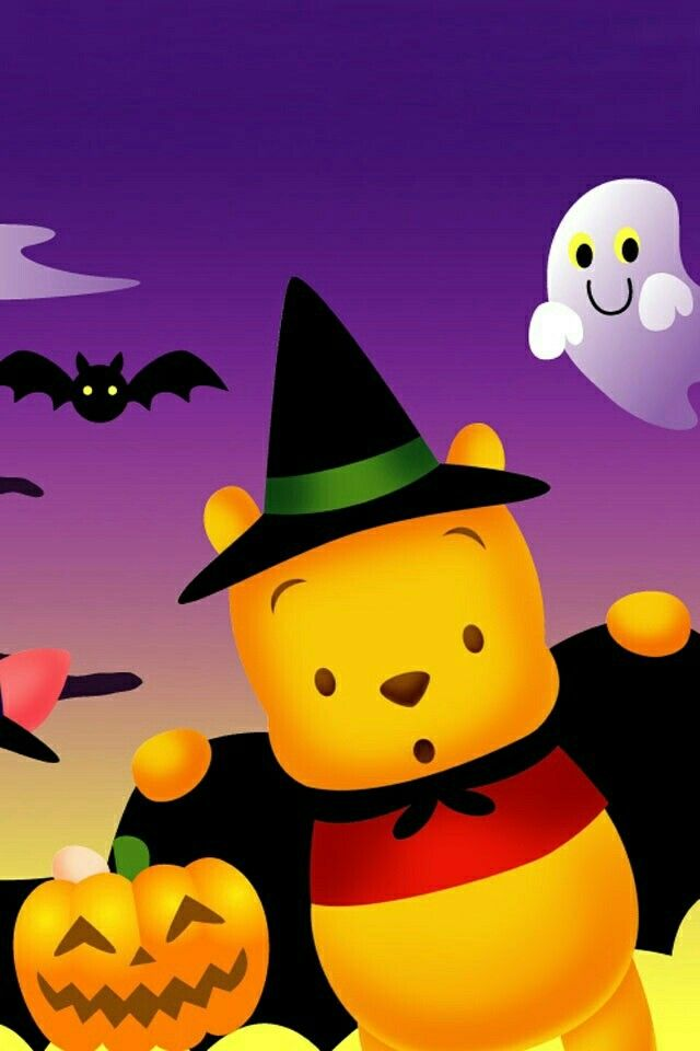 Winnie The Pooh Android Wallpaper Anime Disneyland Halloween Halloween Wallpaper