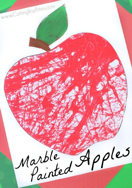 Marble Painted Apples Marble Painting Process Art And