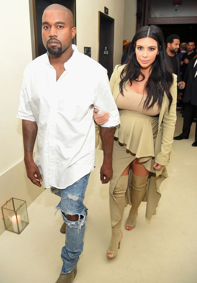 f5e0e08725 Kim Kardashian was spotted rocking a pair of heeled booties while out with  her rapper-turned-designer husband Kanye West in N.Y.C. last night