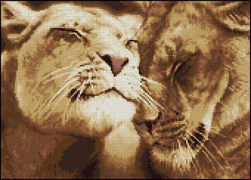 Вышивка крестом схемы бесплатно львы и
