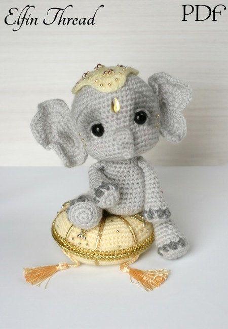 Elephant Baby Mobile, Crochet Elephant, Crochet Baby Gift ...   648x450