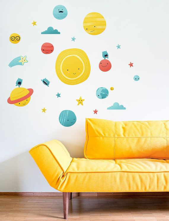 Solar System Eco wall decal / Eco-friendly fabric sticker ...