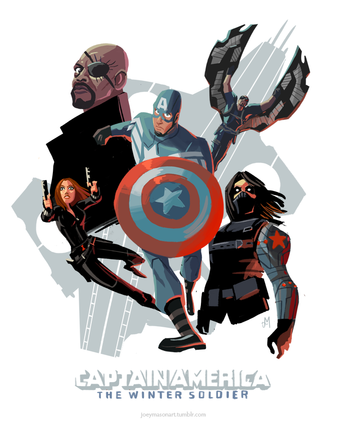Learn How To Draw Falcon From Captain America Civil War: Winter Soldier, Captain America, Falcon, Nick Fury & Black