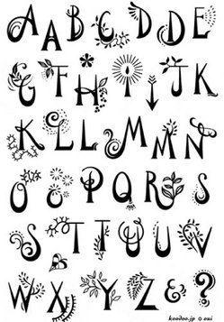 Rubber stamp font...
