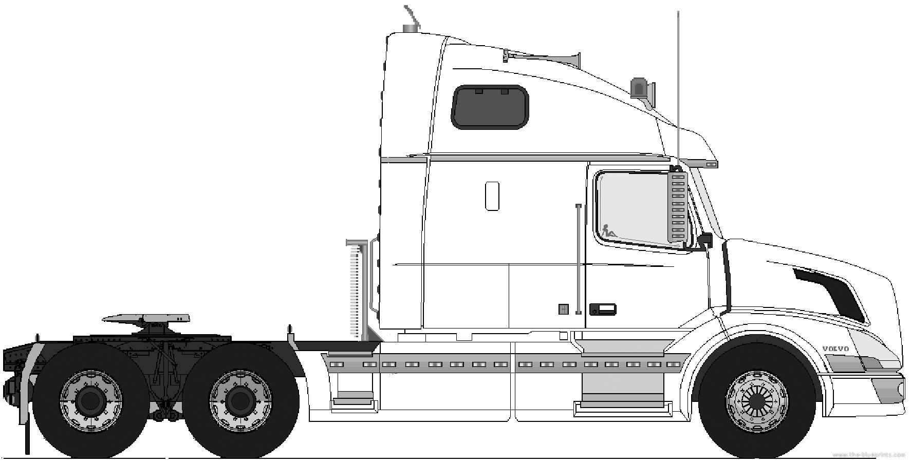 Volvo Vn 770 6x4 Tractor Unit Png 1773 904 Camiones Kenworth Camiones Personalizados Camiones