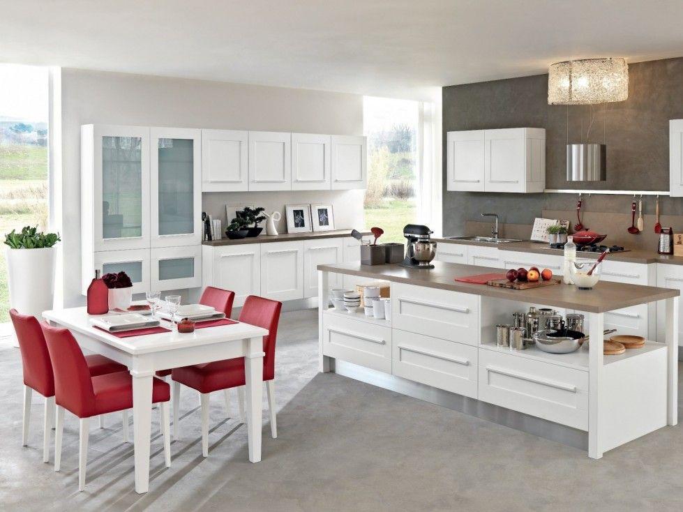 Arredare una cucina all\'americana - Atmosfera accogliente in cucina ...