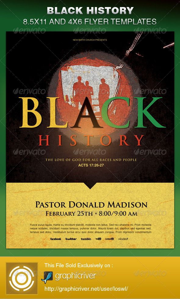 Black History Church Flyer Template Flyer template, Black - church flyer template