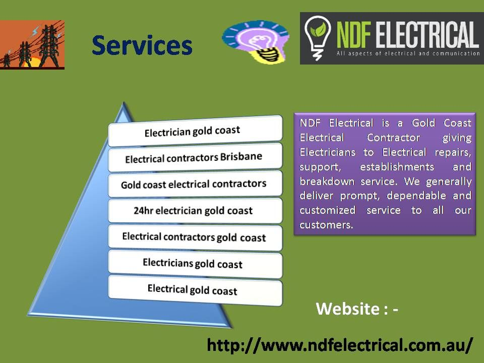 NDF Electrical is a Gold Coast Electrical Contractor