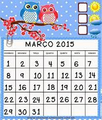 Resultado de imagem para calendario corujinha 2016