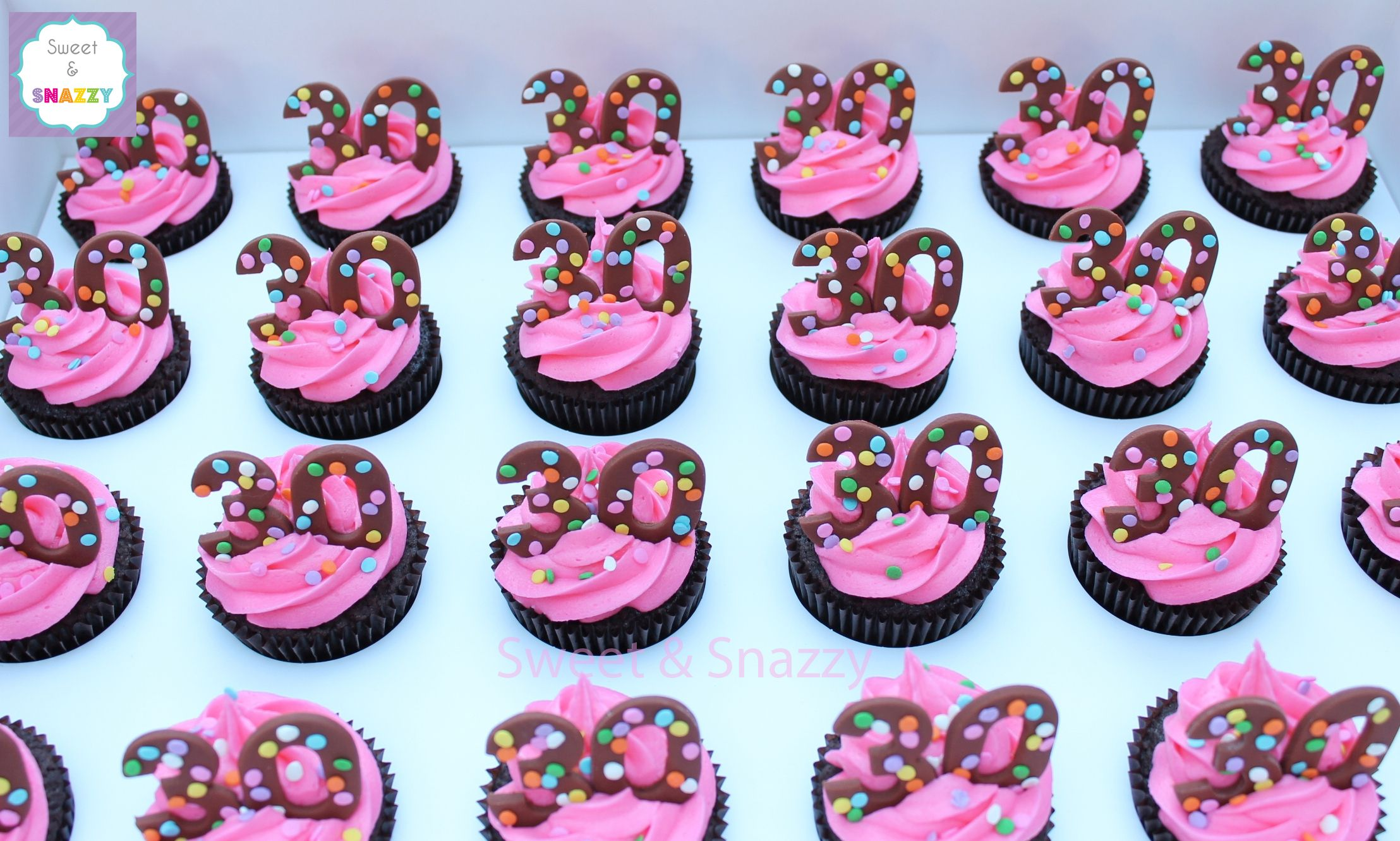30th birthday cupcakes by sweet snazzy httpswww