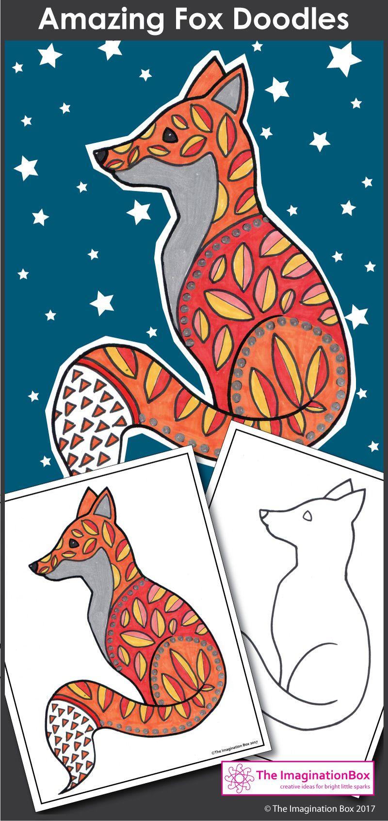 Winter coloring pages animal doodles art and writing activity in