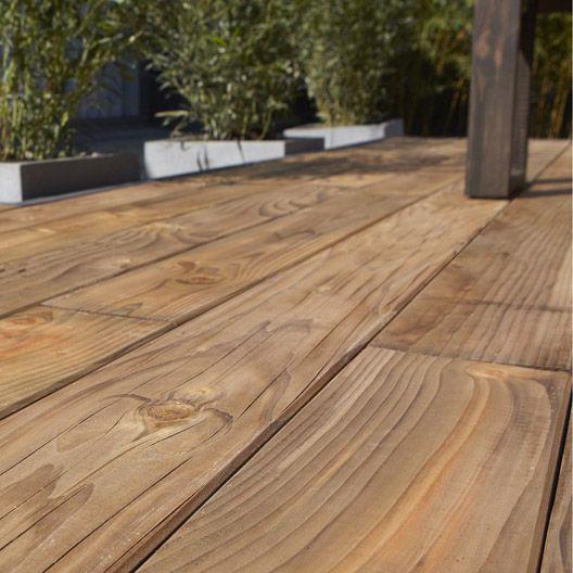 planche douglas en bois marron naterial, l 250 x l 14 cm x ep 27
