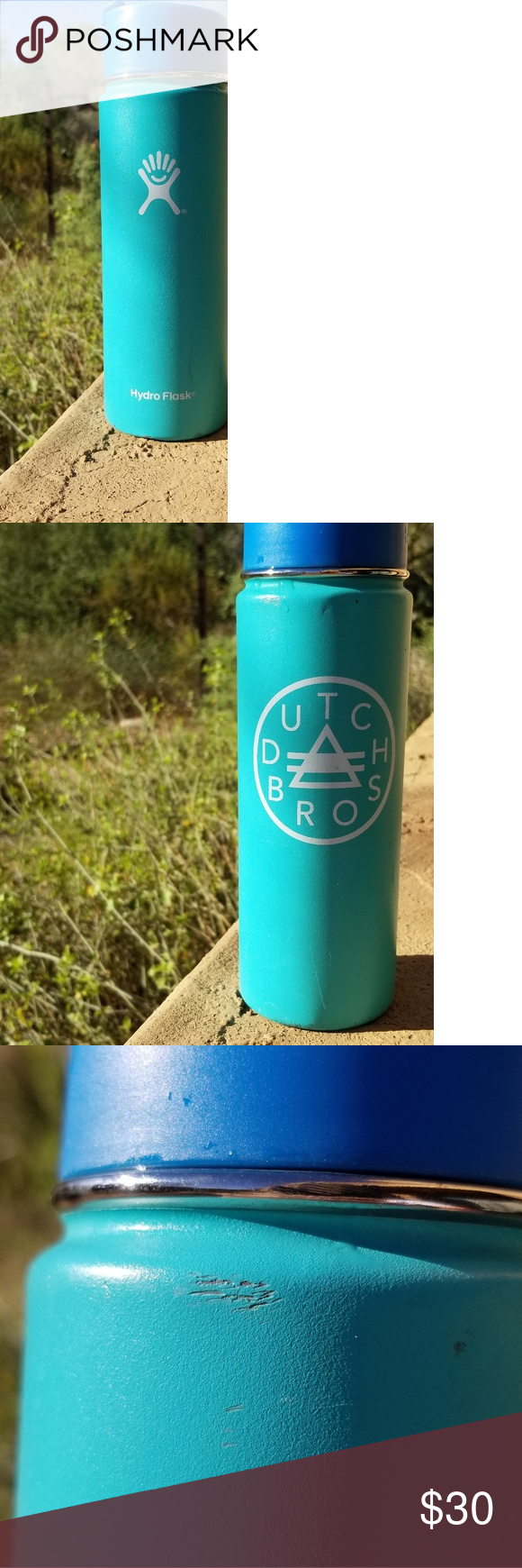 Turquoise Hydroflask 20 oz Dutch Bros Turquoise Dutch Bros Hydroflask 20 oz with a flip top lid. 1 small dent on the bottom along with a few scratches. Flip top lid has small crack on flip top. Hydroflask Other #dutchbros Turquoise Hydroflask 20 oz Dutch Bros Turquoise Dutch Bros Hydroflask 20 oz with a flip top lid. 1 small dent on the bottom along with a few scratches. Flip top lid has small crack on flip top. Hydroflask Other #dutchbros Turquoise Hydroflask 20 oz Dutch Bros Turquoise Dutch Br #dutchbros
