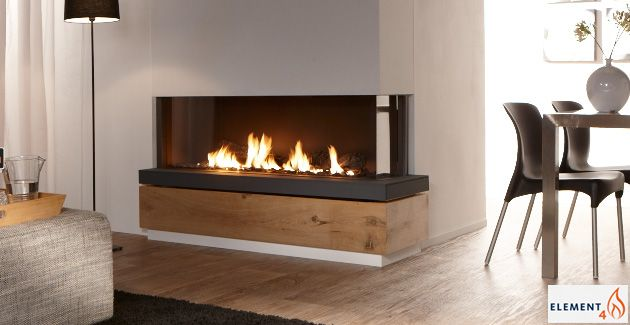 European Design Fireplaces -Linear contemporary corner Direct Vent ...