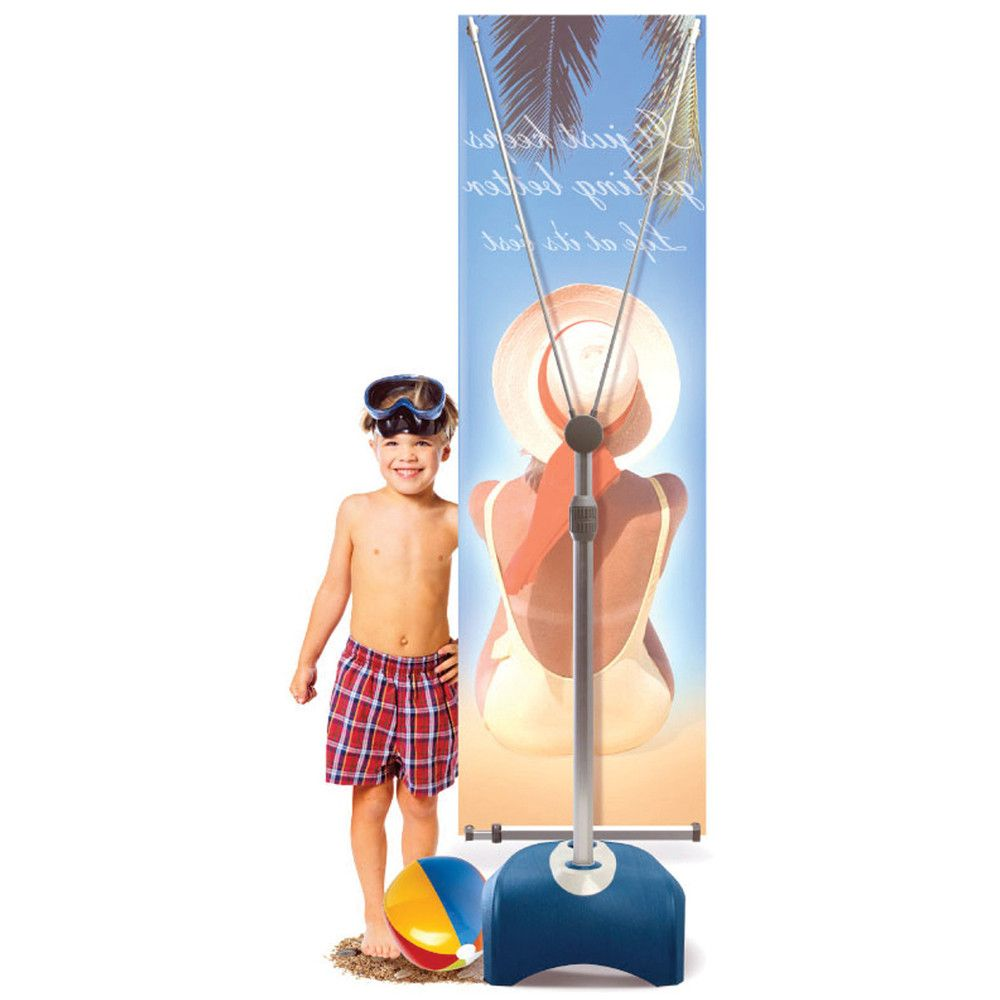Stand /& Graphic Personalized Zephyr Outdoor Banner Stand Double-Sided Graphic Package 2 X 5