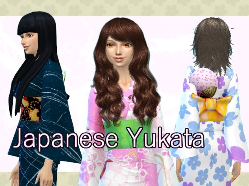 Japanese Yukata for female in 6 patterns Found in TSR ...
