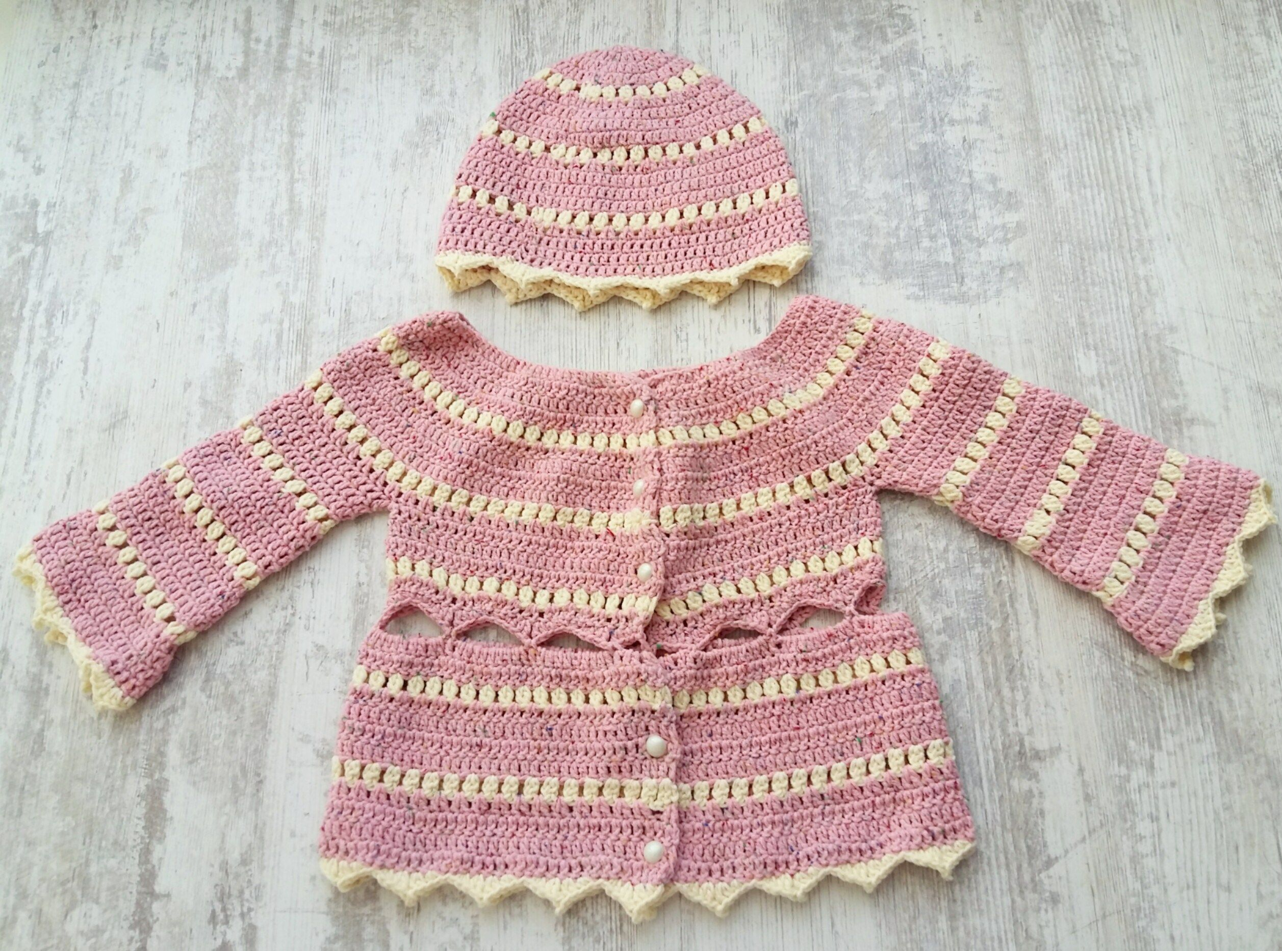 Crochet baby jacket free pattern | baby sweater | Pinterest