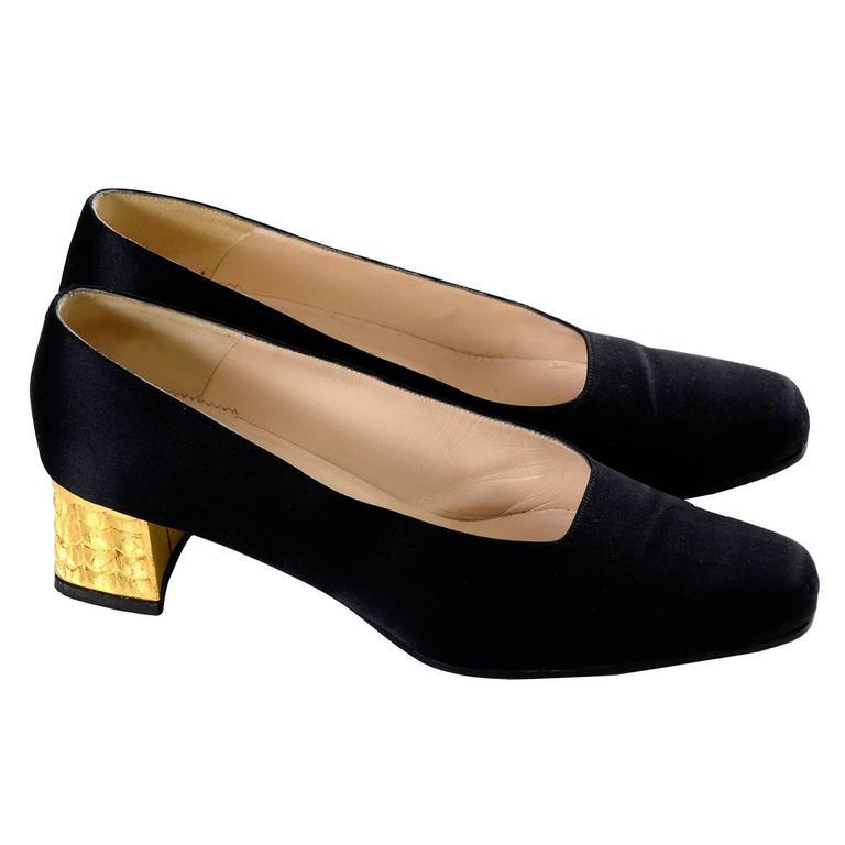 hot sale online 53803 097d3 Rare Documented Christian Louboutin Vintage Shoes Gold Leaf ...