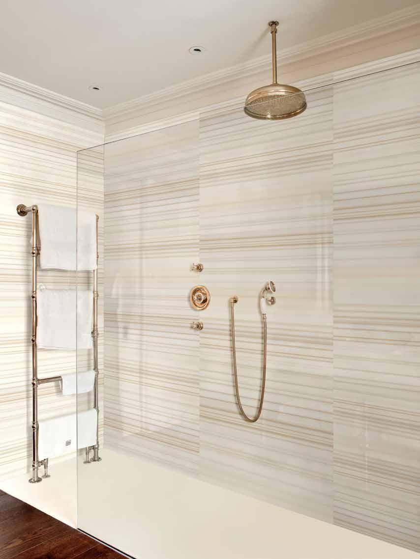 Corian Solid Surface Sepia Linear Corian Shower Walls Shower Wall Bathroom Shower Walls