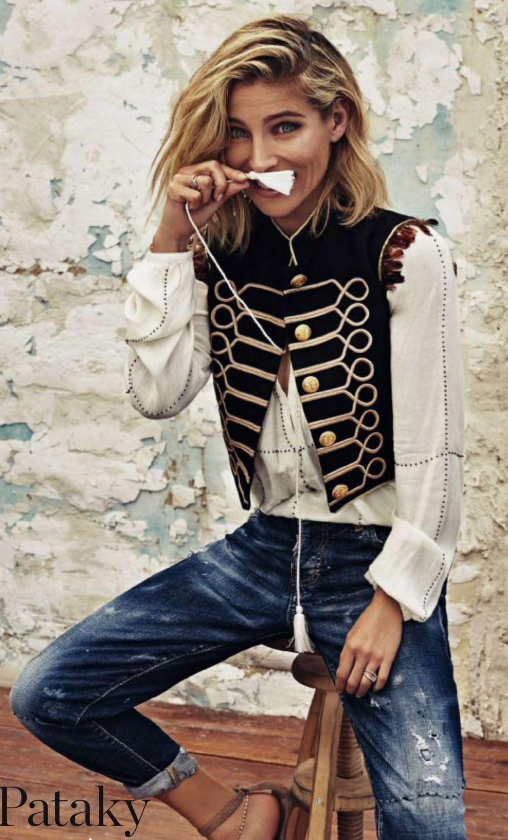 2f4daae1808c0 Elsa Pataky espectacular con Chaleco La Condesa en la revista Elle - A la  venta en carmenhorneros.com