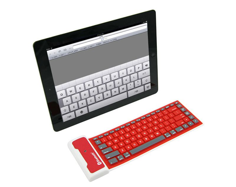 Wireless Bluetooth Foldable Silicone Keyboard For iPad PC Phone ...