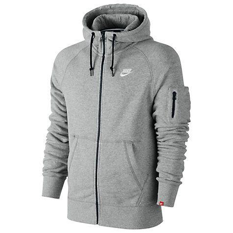 d0d8caeb72be Buy Nike AW77 Fleece Full Zip Training Hoodie Online at johnlewis ...