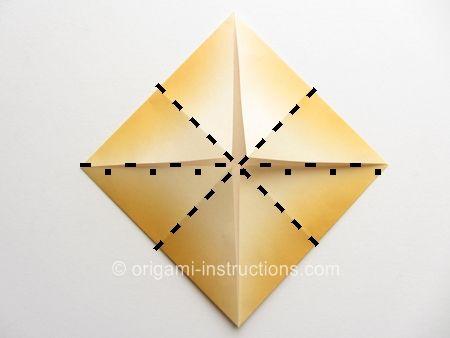 Origami Dahlia Folding Instructions Fleurs
