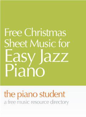 Free Christmas Sheet Music for Jazz Piano   Christmas sheet music, Piano music, Christmas piano ...