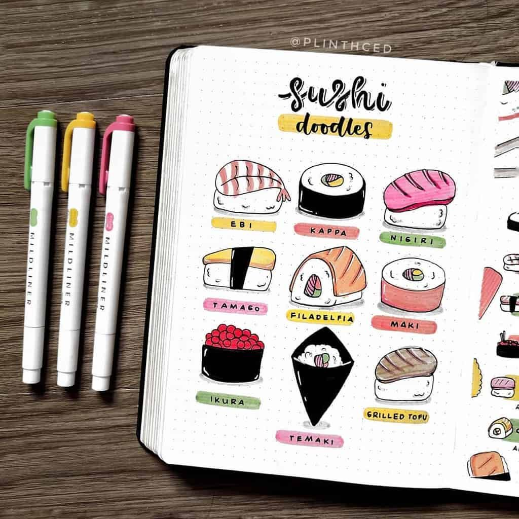 Photo of Add deliciousness to your pages with these 39 Bullet Journal spreads