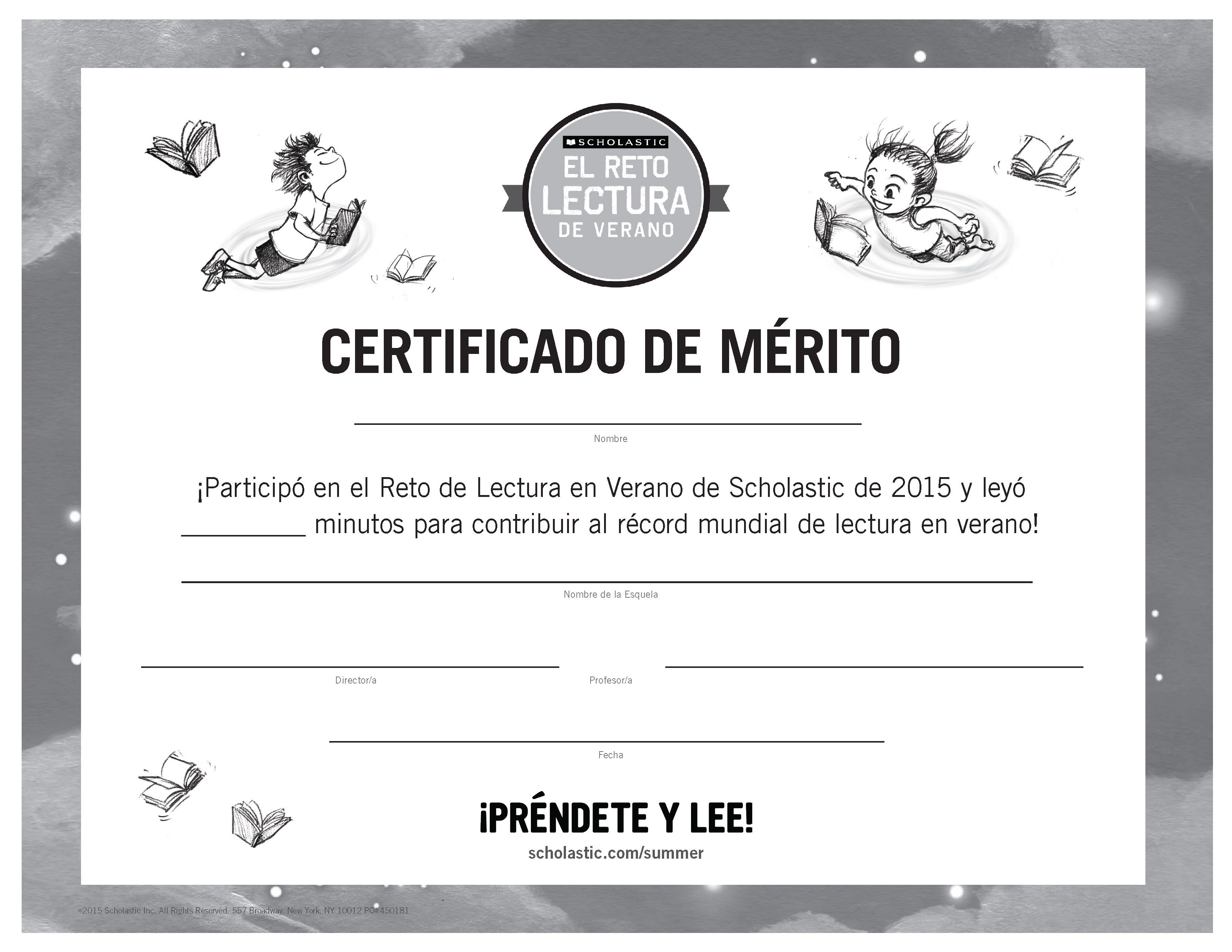 Certificate of achievement spanish version summer reading certificate of achievement spanish version summer reading challenge 2015 at the end 1betcityfo Gallery