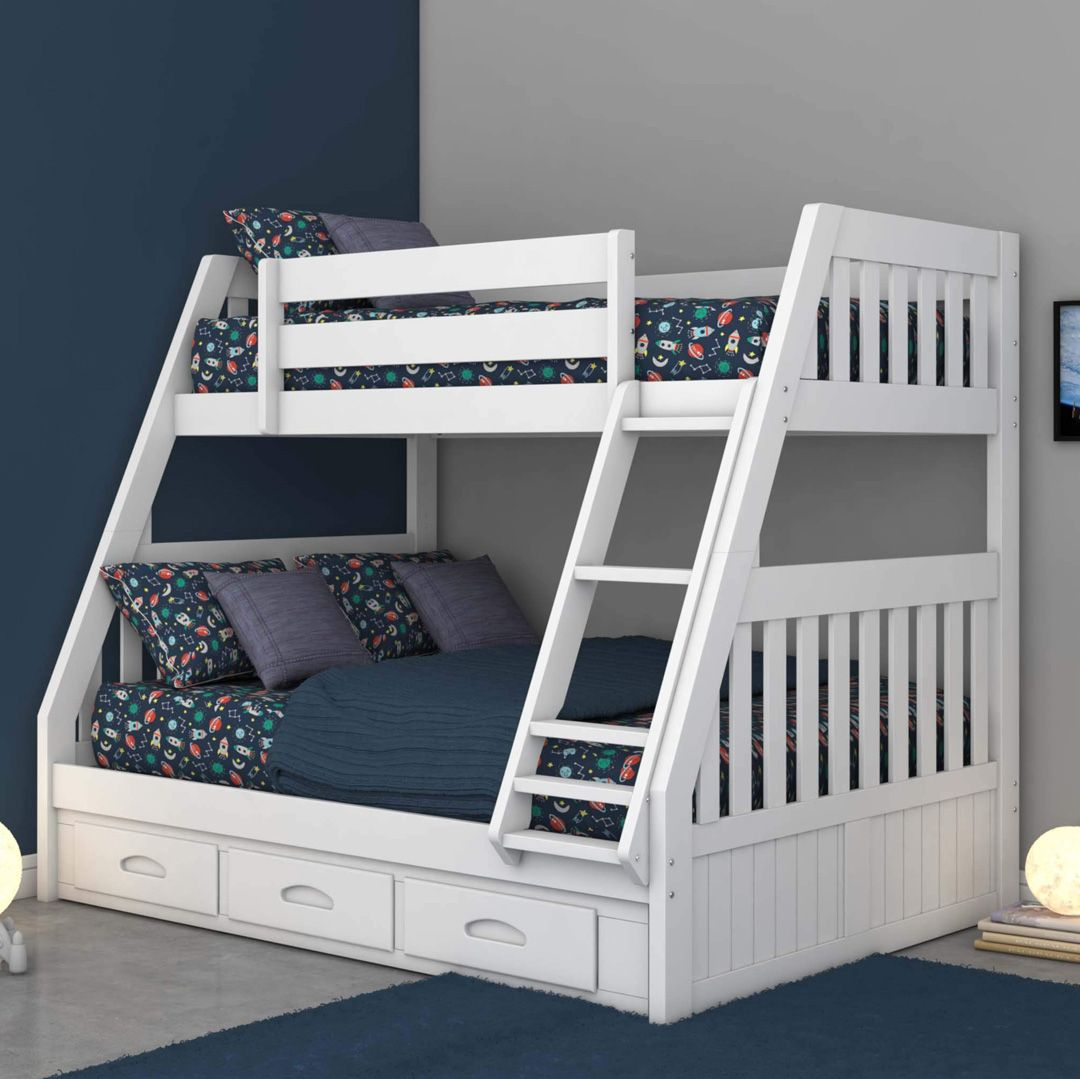 Pin On Kids Room Bedroom Furniture White twin over full bunk bed