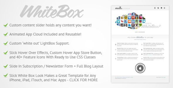 nice WhiteBox Premium App Website Template Website