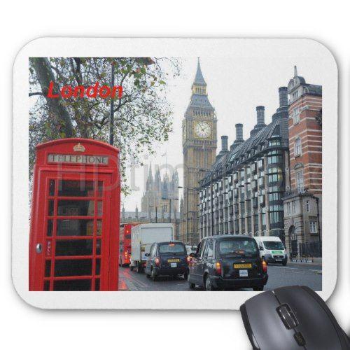 Phone Box London Big Ben St K Mouse Pad Mouse Pad Big Ben London Phone Box