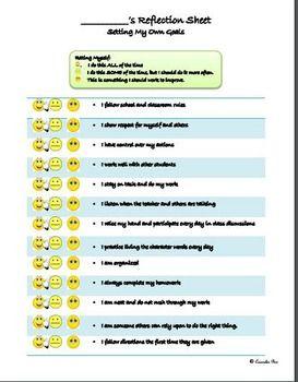 Goal Setting Study Skills Character Ed WORKSHEET PBIS | Counselor ...