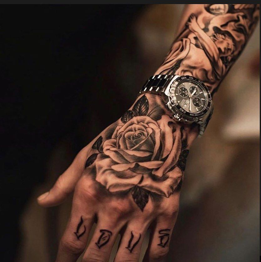 Tumblr In 2020 Hand Tattoos For Guys Hand Tattoos Rose Tattoos For Men