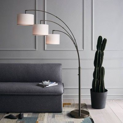 Avenal Shaded Arc Floor Lamp Bronze Includes Energy Efficient Light Bulb Project 62 In 2020