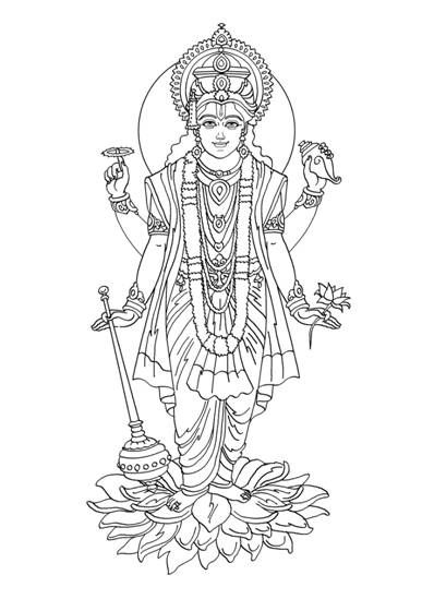 lord brahma coloring pages - photo#34