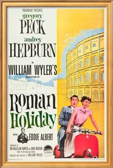 'Roman Holiday, Eddie Albert, Gregory Peck, Audrey Hepburn, 1953' Posters - | AllPosters.com