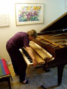cleaning my piano