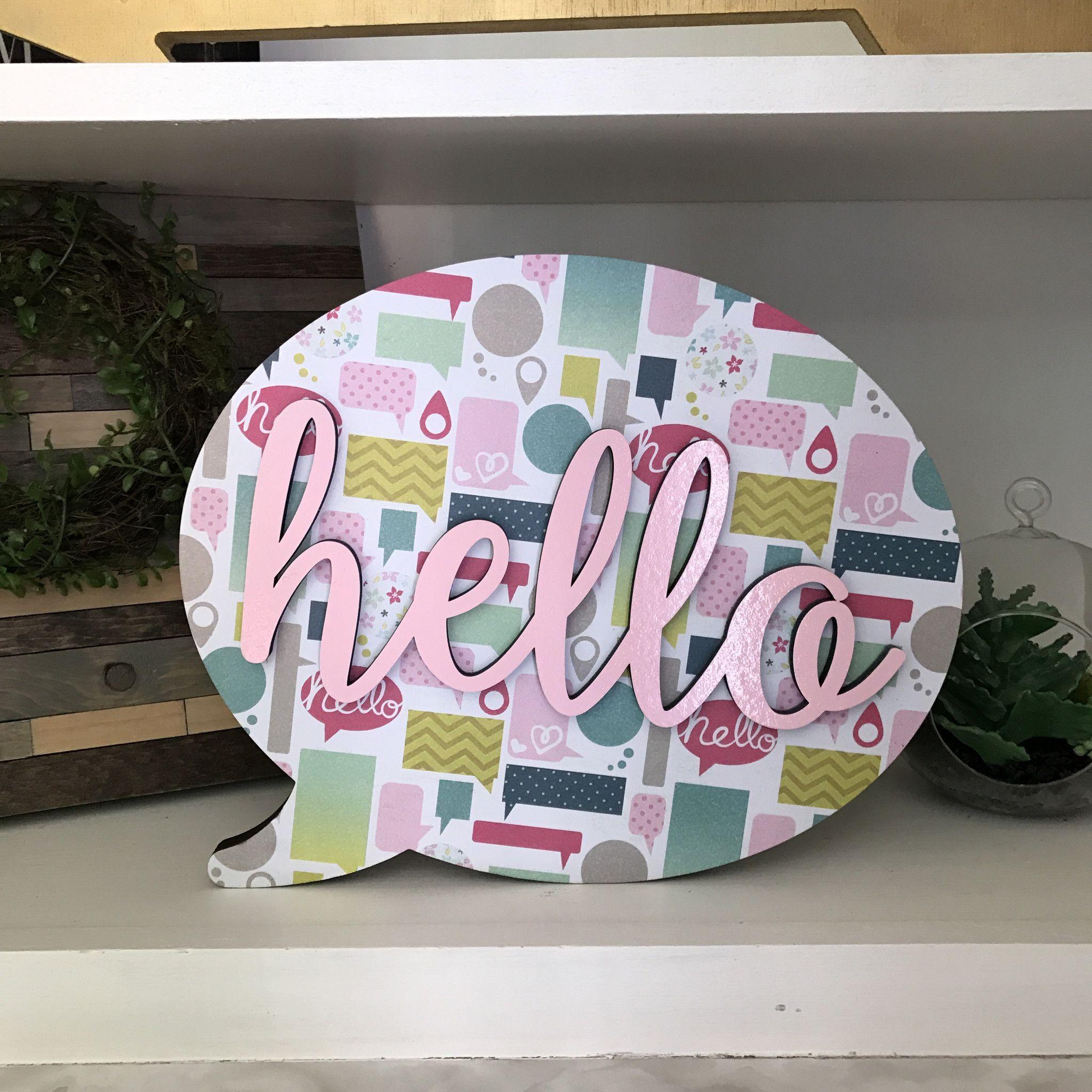 Hello Speech Bubble Sign. Instagram Sale