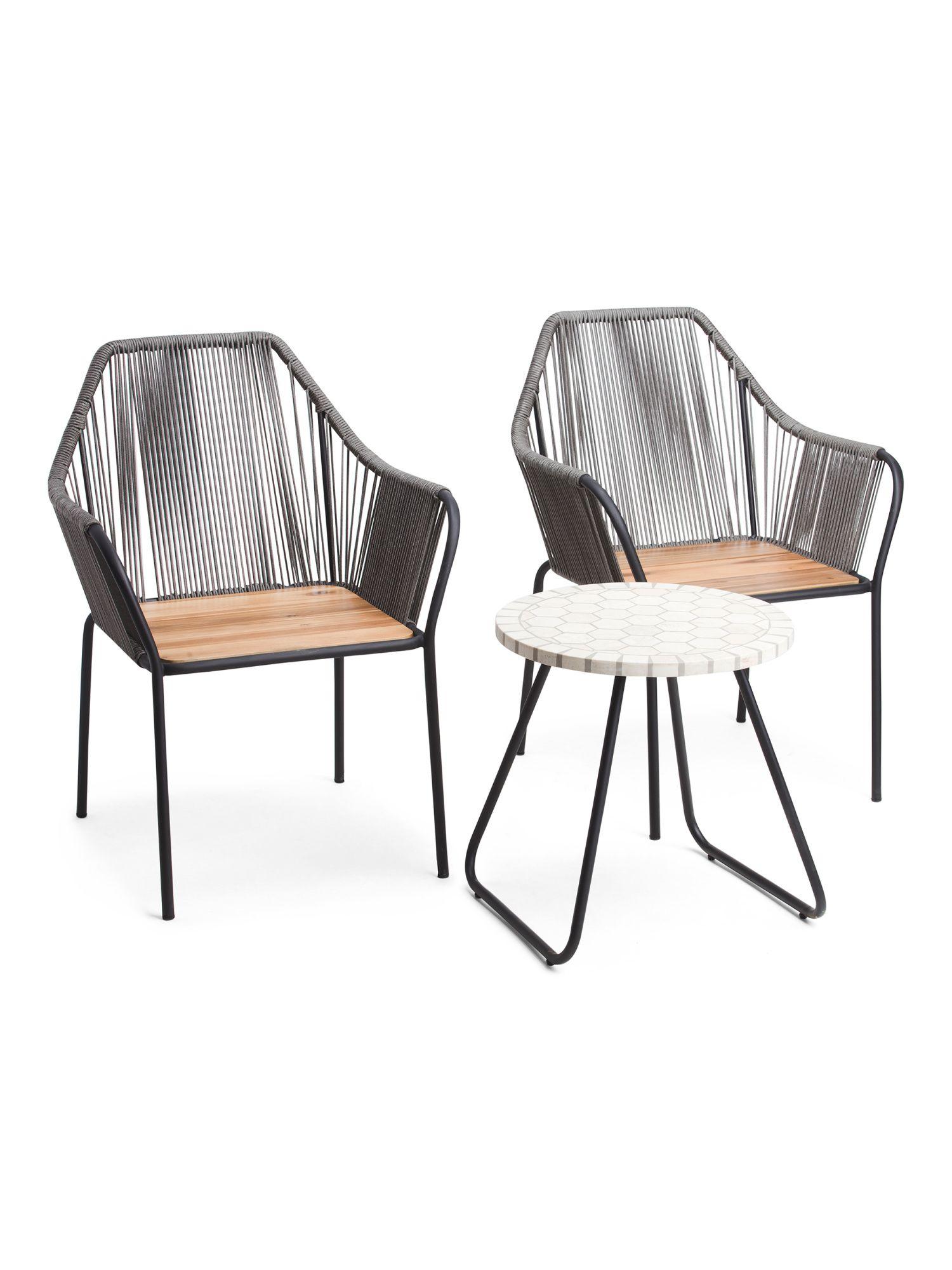 3pc Rope Bistro Set Seating T J Maxx In 2020 Bistro Set Ikea Patio Furniture Ikea Patio