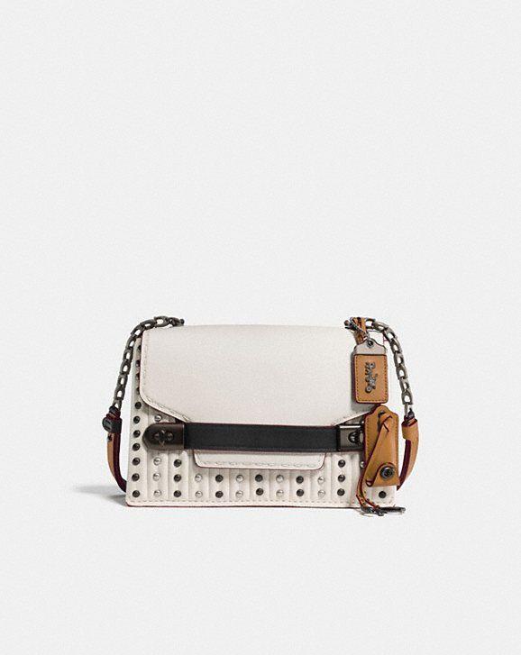 Coach Swagger Chain Crosbody Bag in Burgundy Calfskin Coach Discount 2018 New 9Cjnmm1