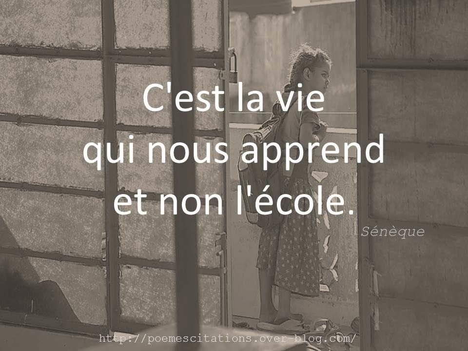Cest La Vie Qui Citation Citation Seneque Et Poeme Et