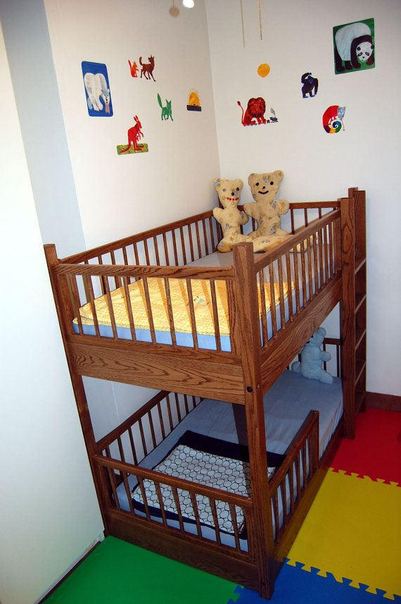 check out 2c4d0 e94ca Small Bunk Bed in Oak by RmcCustomWoodworks on Etsy   Bunk ...