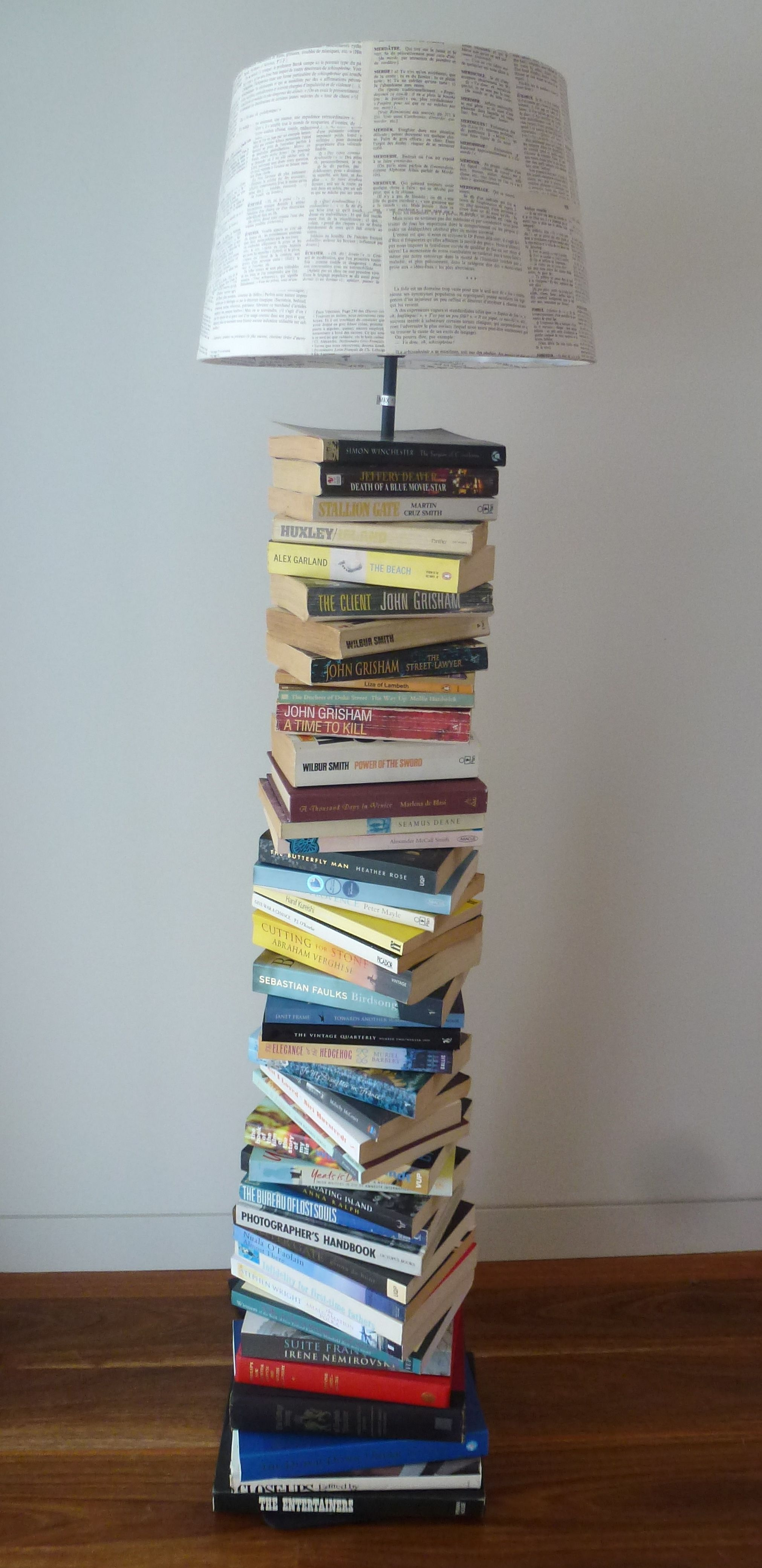 Diy Project Diy Project Upcycled Book Lamp Book Lamp And Books
