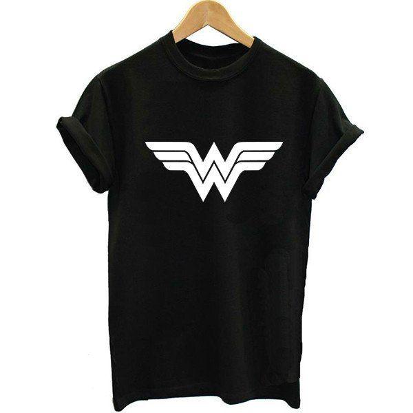 88798a86d Wonder Woman Logo T-shirt - Female Womens Superhero Shirt – Superhero  Universe