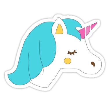 Unicorn Cute Illustration Sticker Redbubble Stickers Unicorn Stickers Sailor Moon Toys Cute Stickers