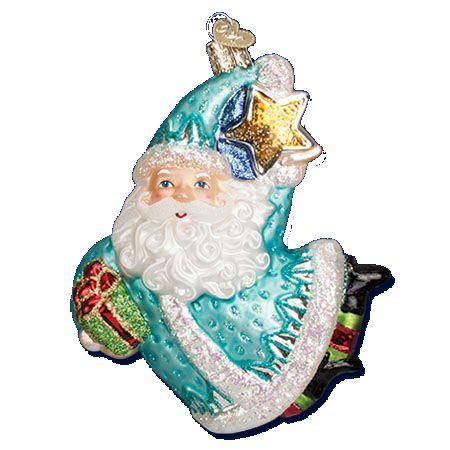 Merck Familys Old World Christmas Ornaments Santas Antique