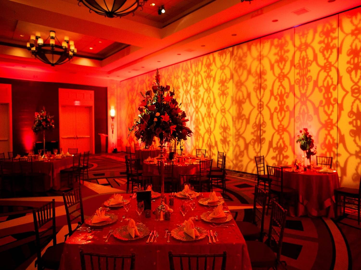 Fiery Colors At This Beach Wedding Taken At The Hilton Virginia