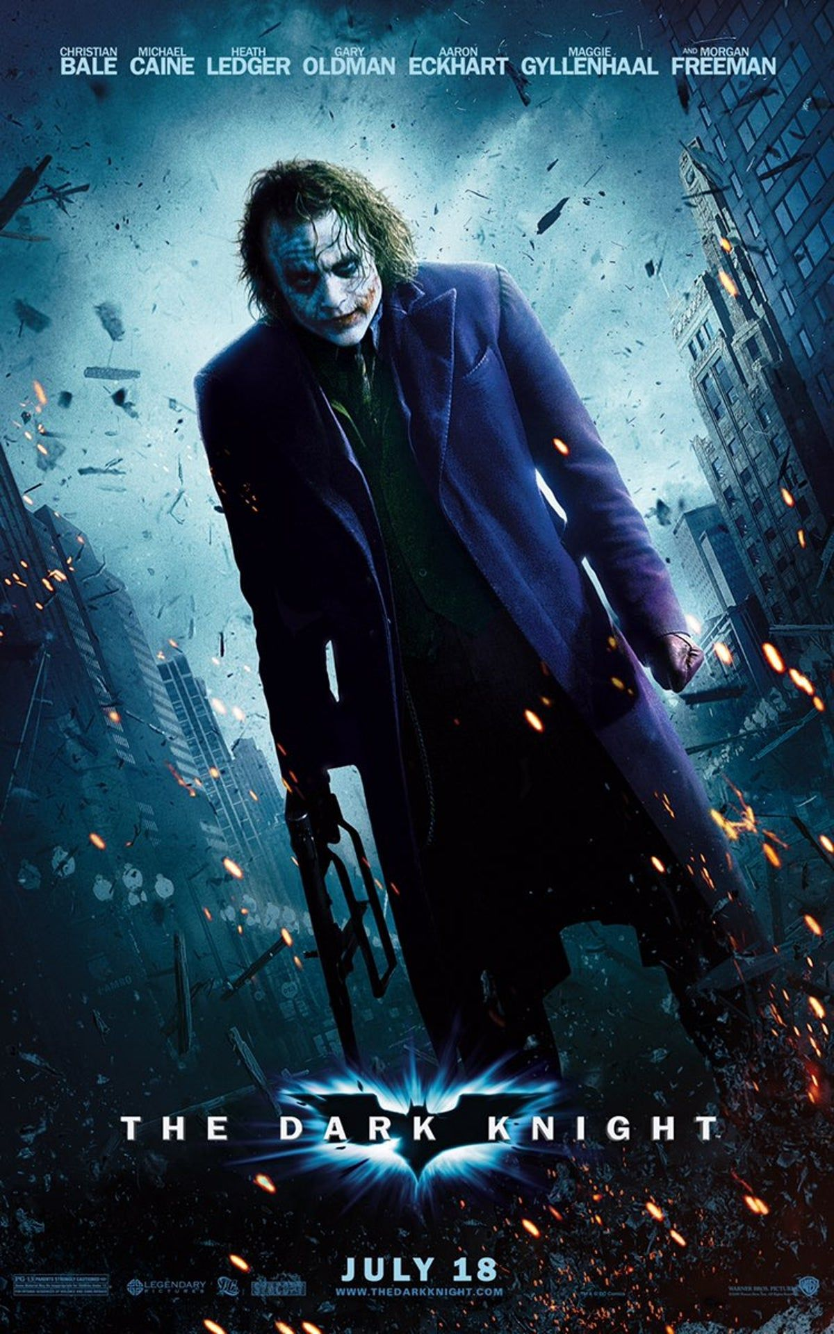 THE DARK KNIGHT Movie PHOTO Print POSTER Film 2008 Batman Joker Heath Ledger 003